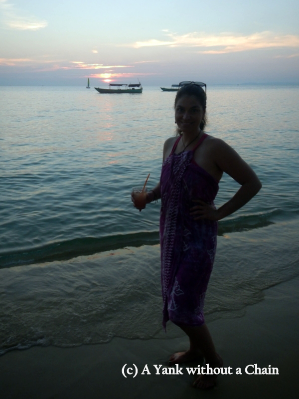 Christmas day at the beach in Sihanoukville, Cambodia