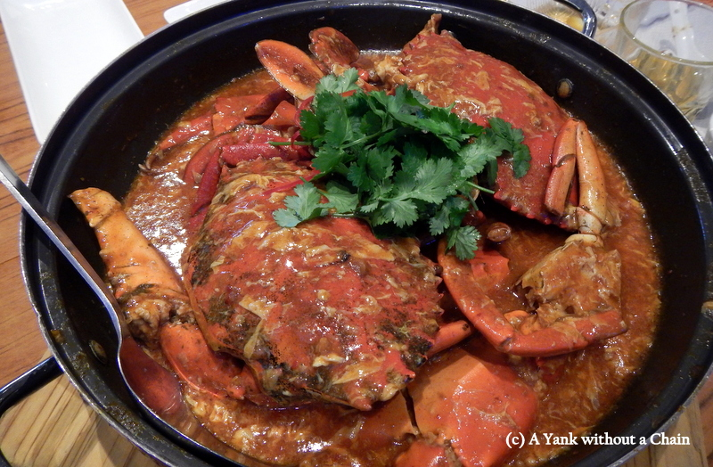 Famous chili crab at Jumbo Crab in Singapore