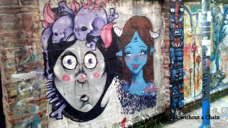 Some of the impressive street art in Valparaiso, Chile