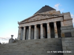 A close up of the Shrine of Remembrance