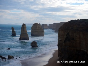 A view of the 12 Apostles on the Great Ocean Road