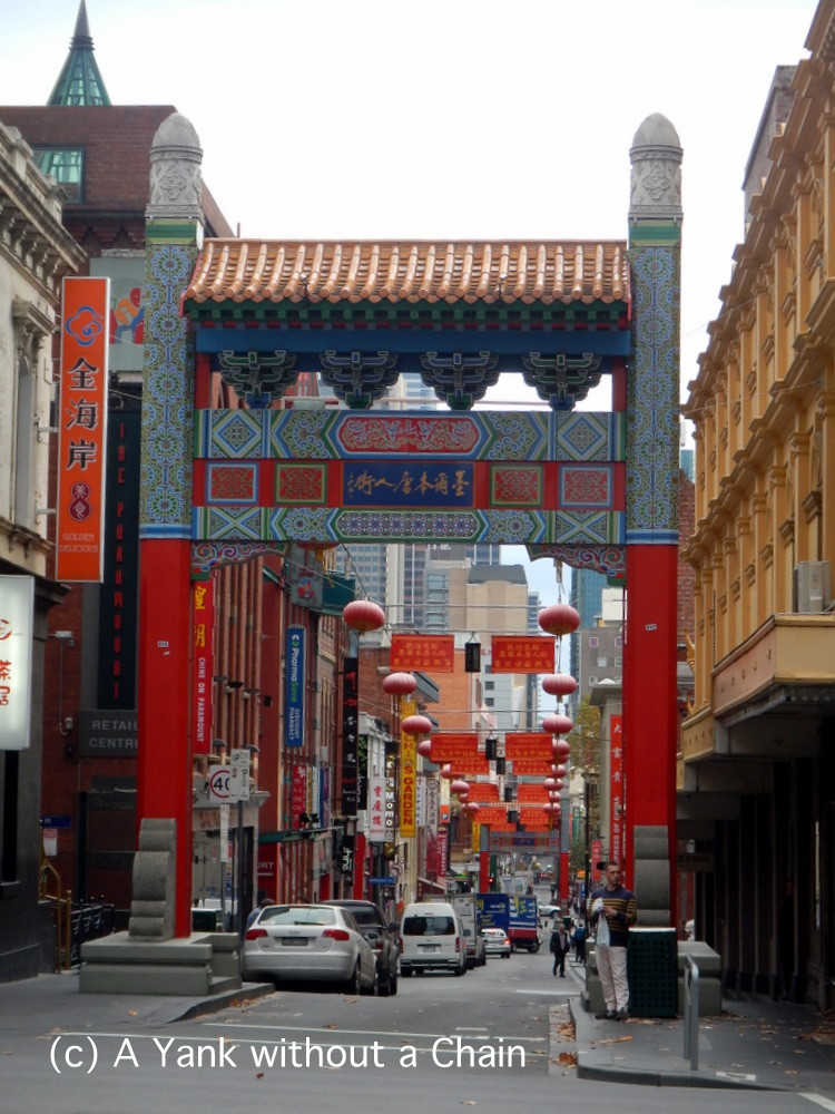 The gate to Chinatown in the CBD