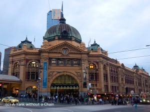 The iconic Flinders Street train station in Melbourne's CBD
