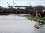 The Yarra River flowing through downtown Melbourne