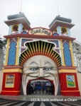 The terrifying entrance to Luna Park in St. Kilda