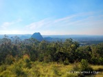 View of the Glass House Mountains from Mount Beerburrum