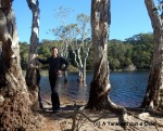 Hanging out at Poona Lake at the Great Sandy National Park