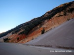The colored cliffs at Rainbow Beach