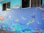 Reef-themed street art in Townsville