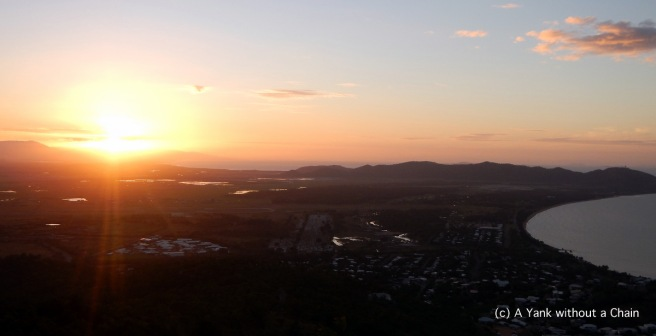 Sunset viewed from Castle Hill