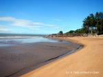 The shore of Bramston Beach in Queensland, Australia