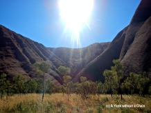 The section of Uluru that has the Mutitjulu waterhole