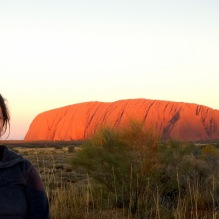 Posing with the gorgeous Uluru