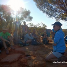 Kate, our intrepid guide, explaining how the canyon was formed and also some of the plant life in the area