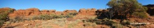 A panorama of the amazing beehive like structures at the canyon