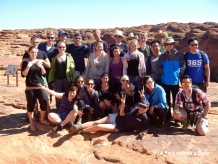 My tour group with Kings Canyon in the background