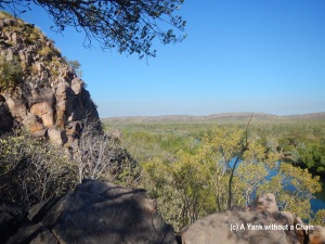 The view from Baruwei Lookout, part of a 5k bushwalking trail at Katherine Gorge