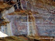 Aboriginal rock art representing a Tasmanian Tiger, or Thylacine - now extinct in the area