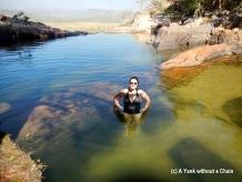 Posing at the swimming pool of Gunlom Falls