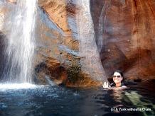 "A second ""hidden"" waterfall on the upper level of Gunlom Falls"