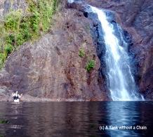 Posing with Wangi Falls