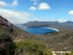 A view of Wineglass Bay from the lookout